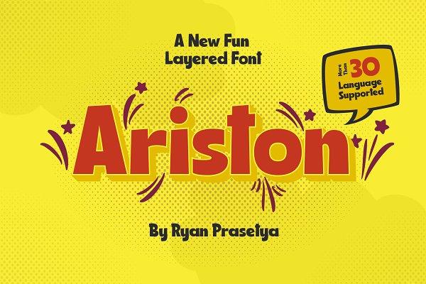 Ariston Comic Layered Font