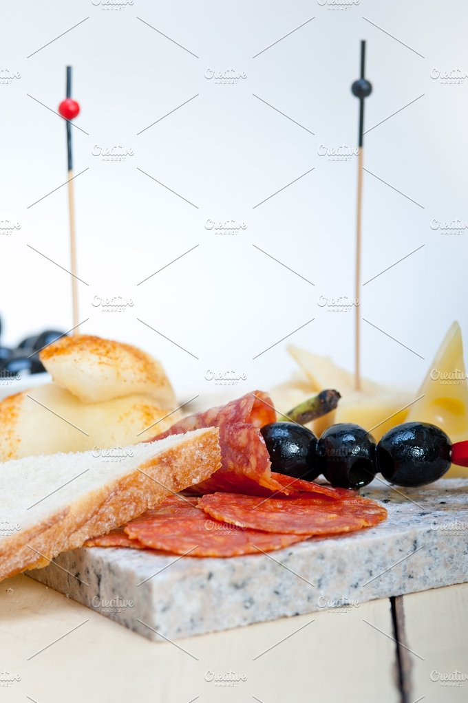 cold cut snack on stone 026.jpg - Food & Drink