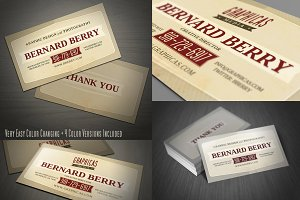 Retro Business Card Template 03