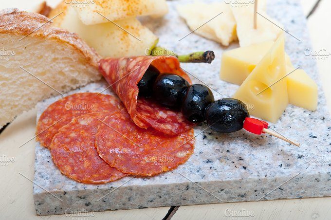 cold cut snack on stone 034.jpg - Food & Drink