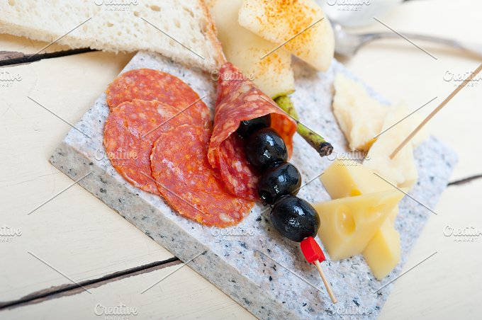 cold cut snack on stone 036.jpg - Food & Drink
