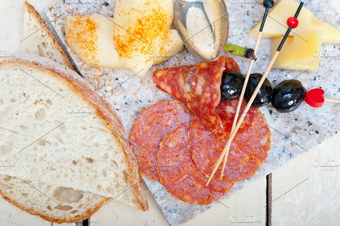 cold cut snack on stone 048.jpg - Food & Drink