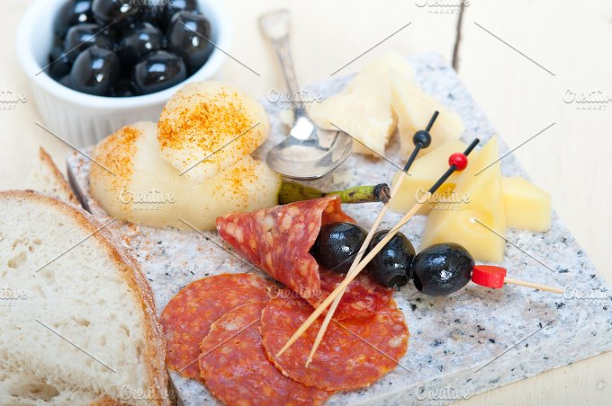 cold cut snack on stone 050.jpg - Food & Drink