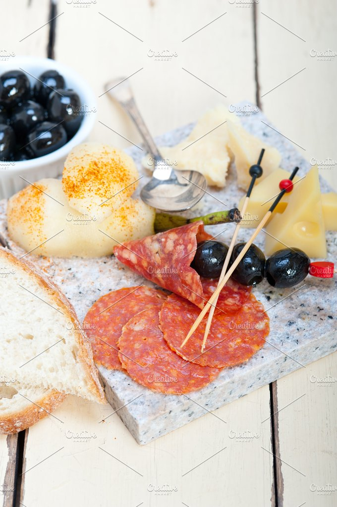 cold cut snack on stone 052.jpg - Food & Drink