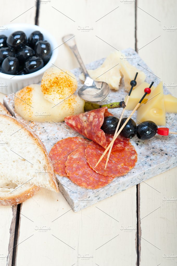 cold cut snack on stone 053.jpg - Food & Drink