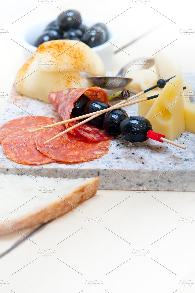 cold cut snack on stone 057.jpg - Food & Drink