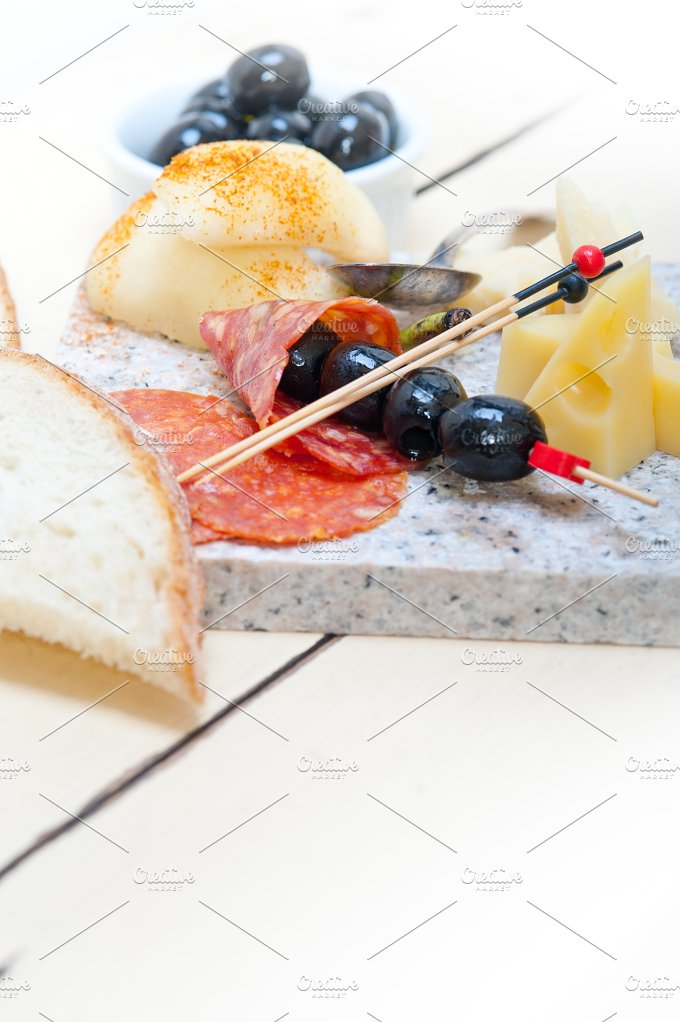 cold cut snack on stone 059.jpg - Food & Drink