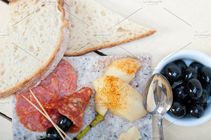 cold cut snack on stone 075.jpg - Food & Drink