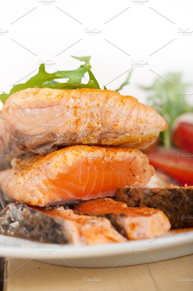 grilled salmon filet with vegetables 012.jpg - Food & Drink
