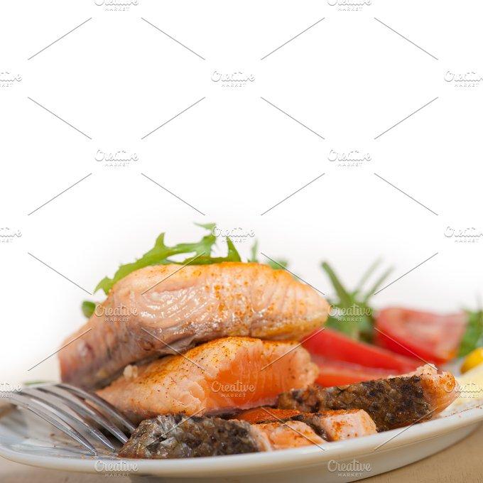 grilled salmon filet with vegetables 018.jpg - Food & Drink
