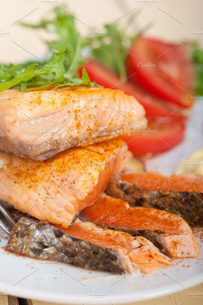 grilled salmon filet with vegetables 024.jpg - Food & Drink