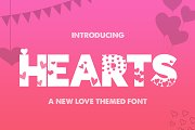 Hearts Silhouette Font