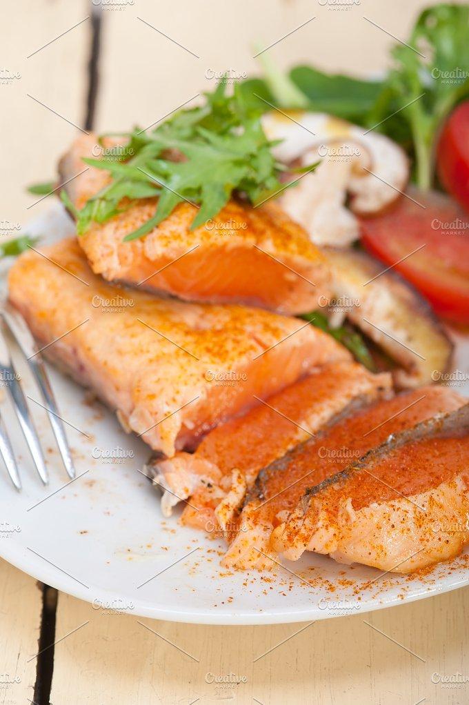grilled salmon filet with vegetables 030.jpg - Food & Drink