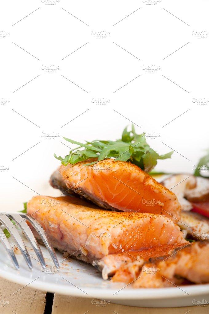 grilled salmon filet with vegetables 034.jpg - Food & Drink