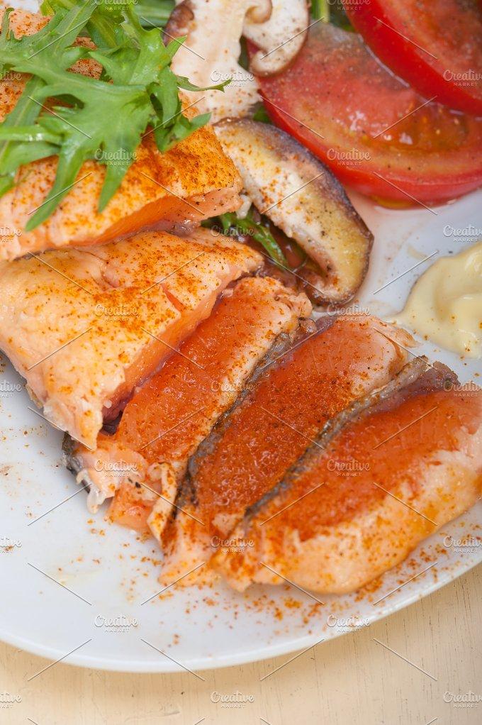 grilled salmon filet with vegetables 039.jpg - Food & Drink