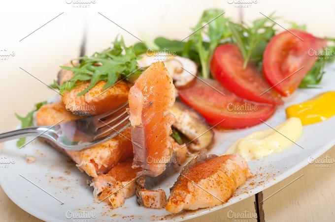 grilled salmon filet with vegetables 041.jpg - Food & Drink