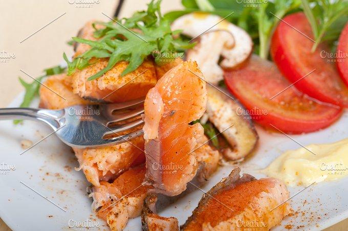 grilled salmon filet with vegetables 049.jpg - Food & Drink