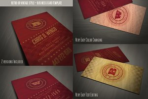 Retro Business Card Template 05