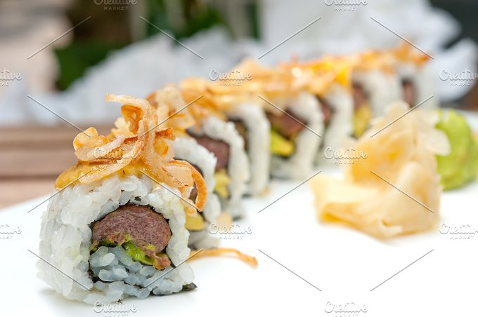 Japanese sushi rolls 004.jpg - Food & Drink