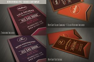 Retro Business Card Template 07
