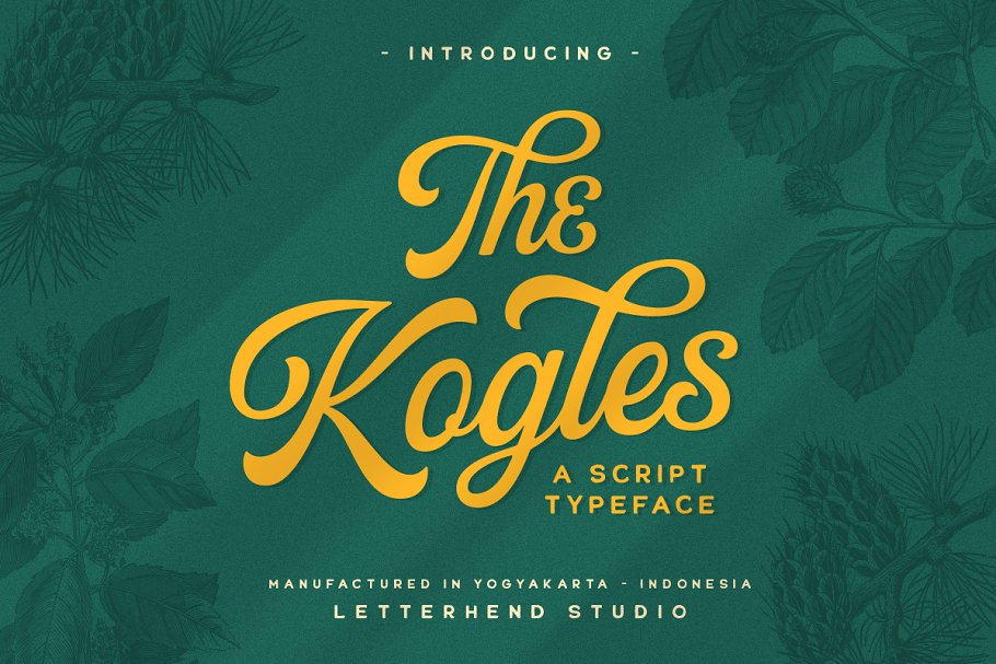 The Kogles Script Typeface