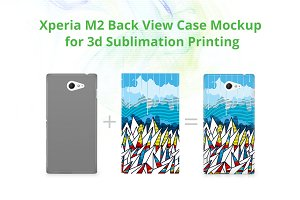 Xperia M2 3d Case Back Mock-up