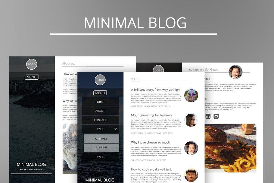 Minimal Blog Template Designs
