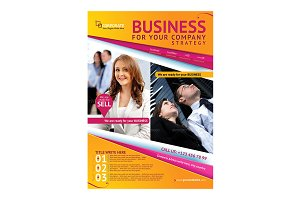 Business Magazine Advertising Flyer