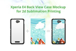 Xperia E4 2d Case Back Mock-up