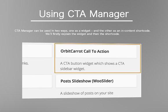 CTA Manager - WordPress Plugin