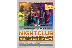 Club Party Time Flyer Template