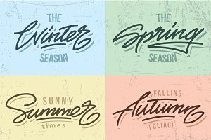 Seasons lettering titles