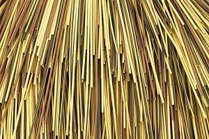 Multi color bamboo cane