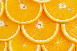Sliced oranges background