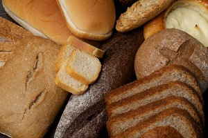 Background of Various Bread
