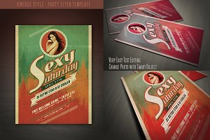 Vintage Style Party Flyer