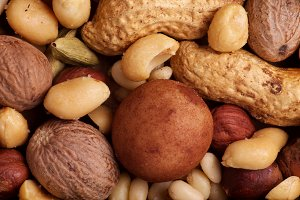 Various Nuts Background