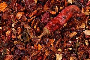 Paprika and Chili Background