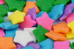 Multi Colored Stars Sprinkles