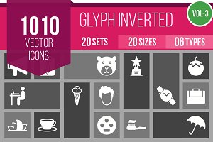 1010 Glyph Inverted Icons (V3)