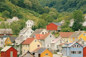colorful nordic village