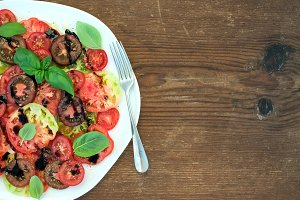 Ripe village heirloom tomato salad