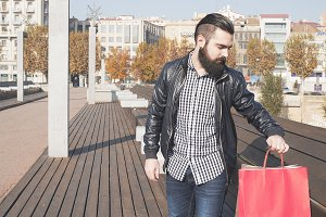 Man with buying bags