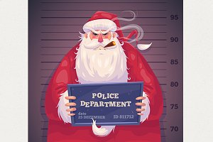 Bad Santa in police department