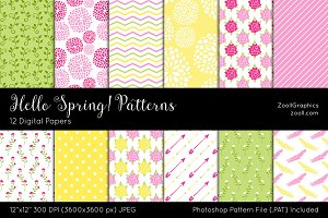 Hello Spring! Digital Papers