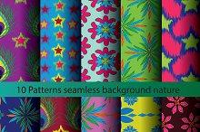 Ten patterns background texture