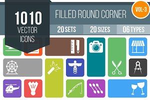 1010 Filled Round Corner Icons (V3)