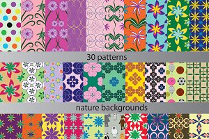 Thirty patterns background texture