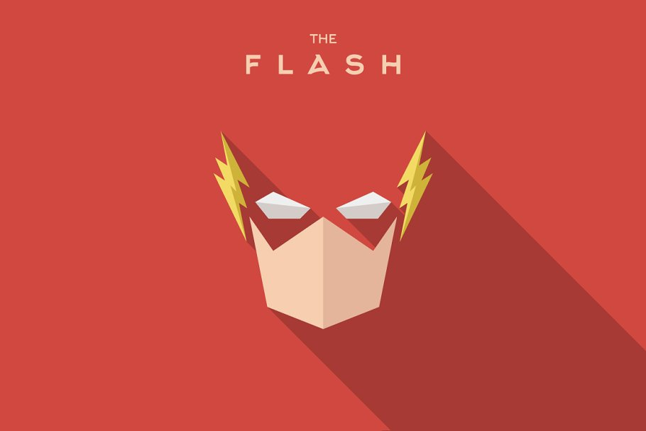 Mask Flash Superhero Flat Logo Style Logo Templates Creative Market