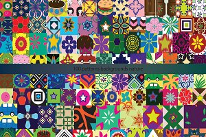 One hundred patterns background